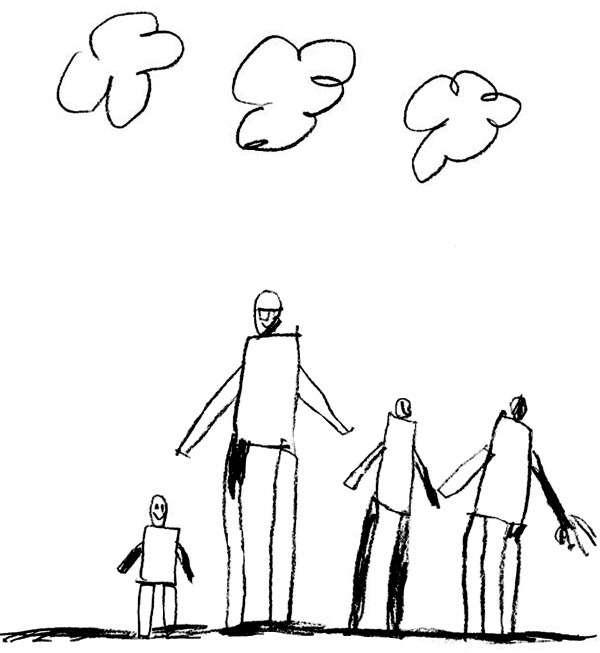 рисунок к тесту Моя семья