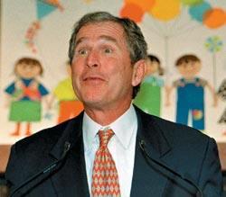 Вопреки слухам IQ Джорджа Буша оценивают примерно в 125, что выше среднего, как и у большинства успешных политиков. Фото: REITERS