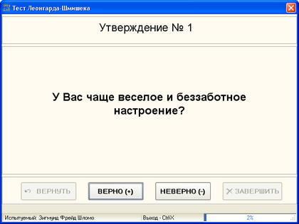 опросник Шмишека-Леонгарда