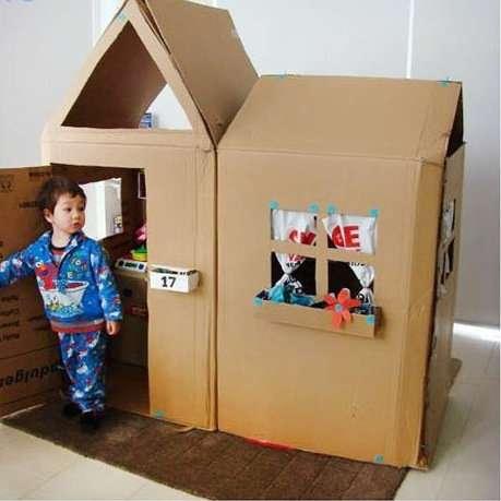 детскийдомик из картона
