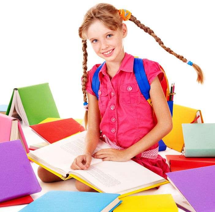 Ученица с книгами