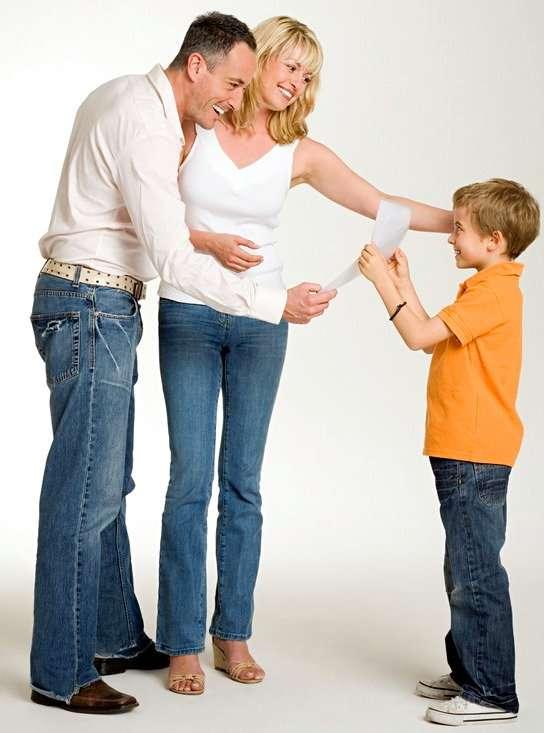 родители хвалят ребенка