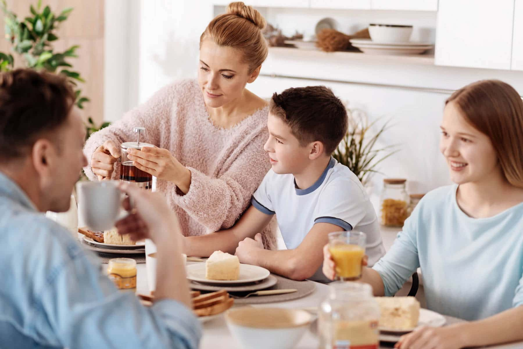 Совместный семейный ужин